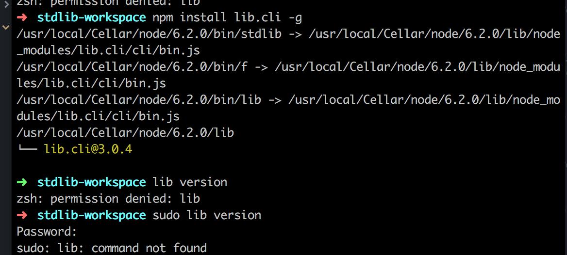 lib init not working  · Issue #70 · stdlib/lib · GitHub