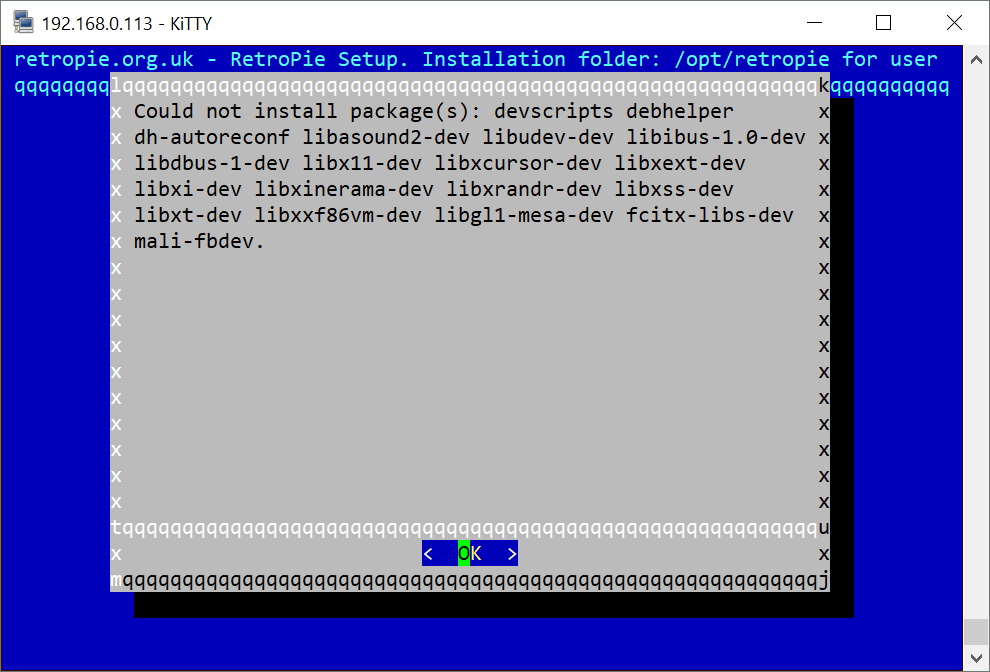 Can't install Retropie with latest Odroid image · Issue #1515