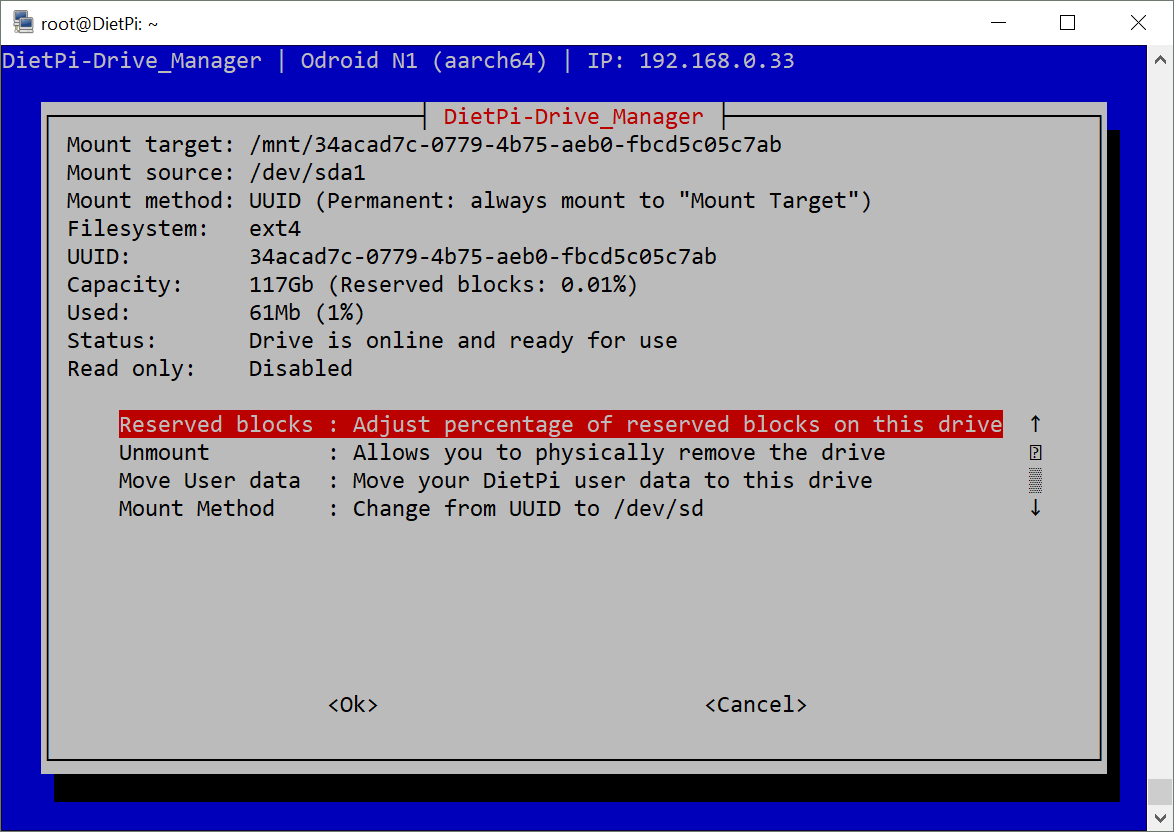 DietPi-Drive_Manager   Root/BootFS fsck on reboot · Issue