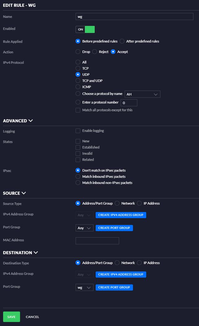 Ubiquiti USG configuration for Wireguard · GitHub