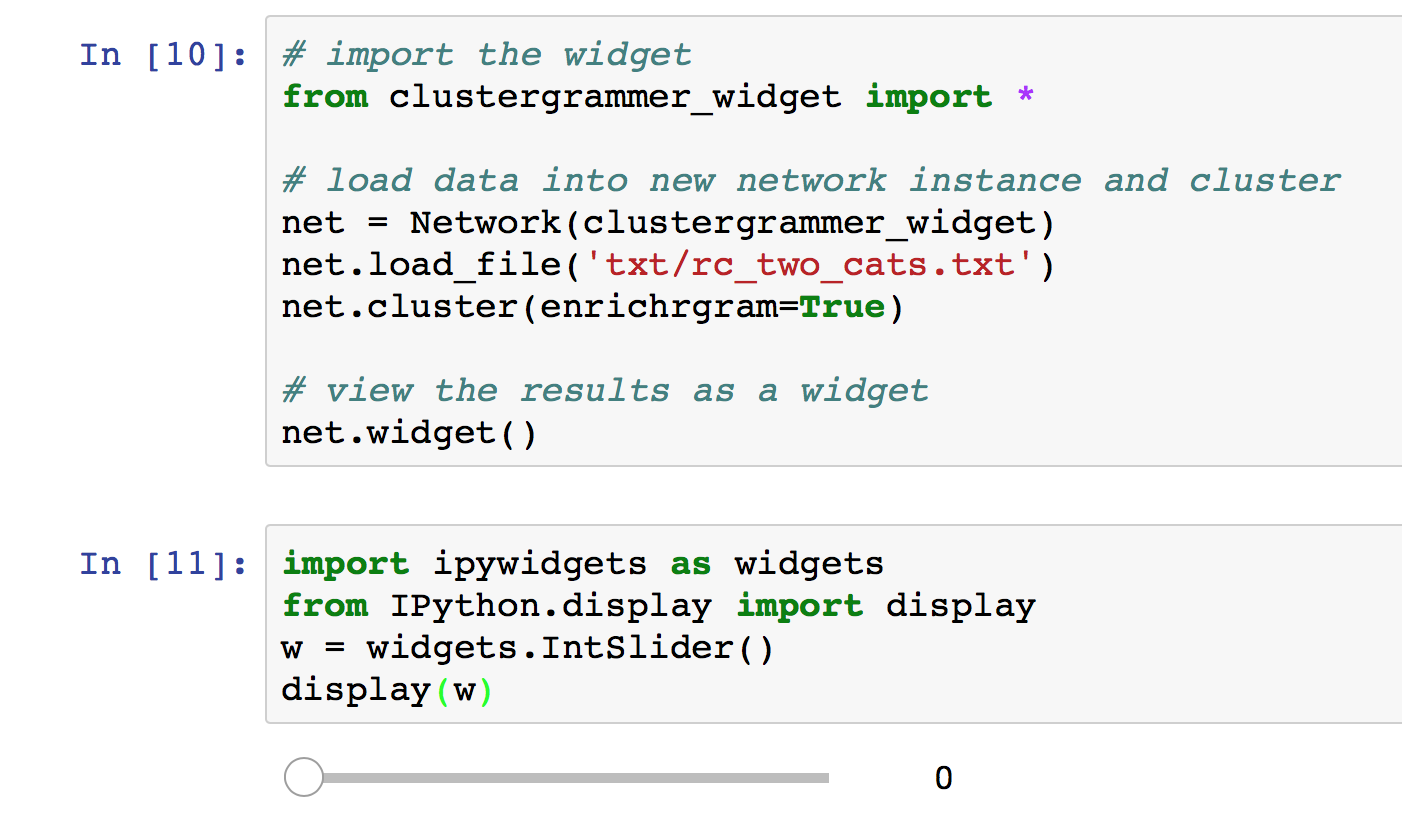 Code doesn't display the widget on Jupyter Notebook · Issue #2