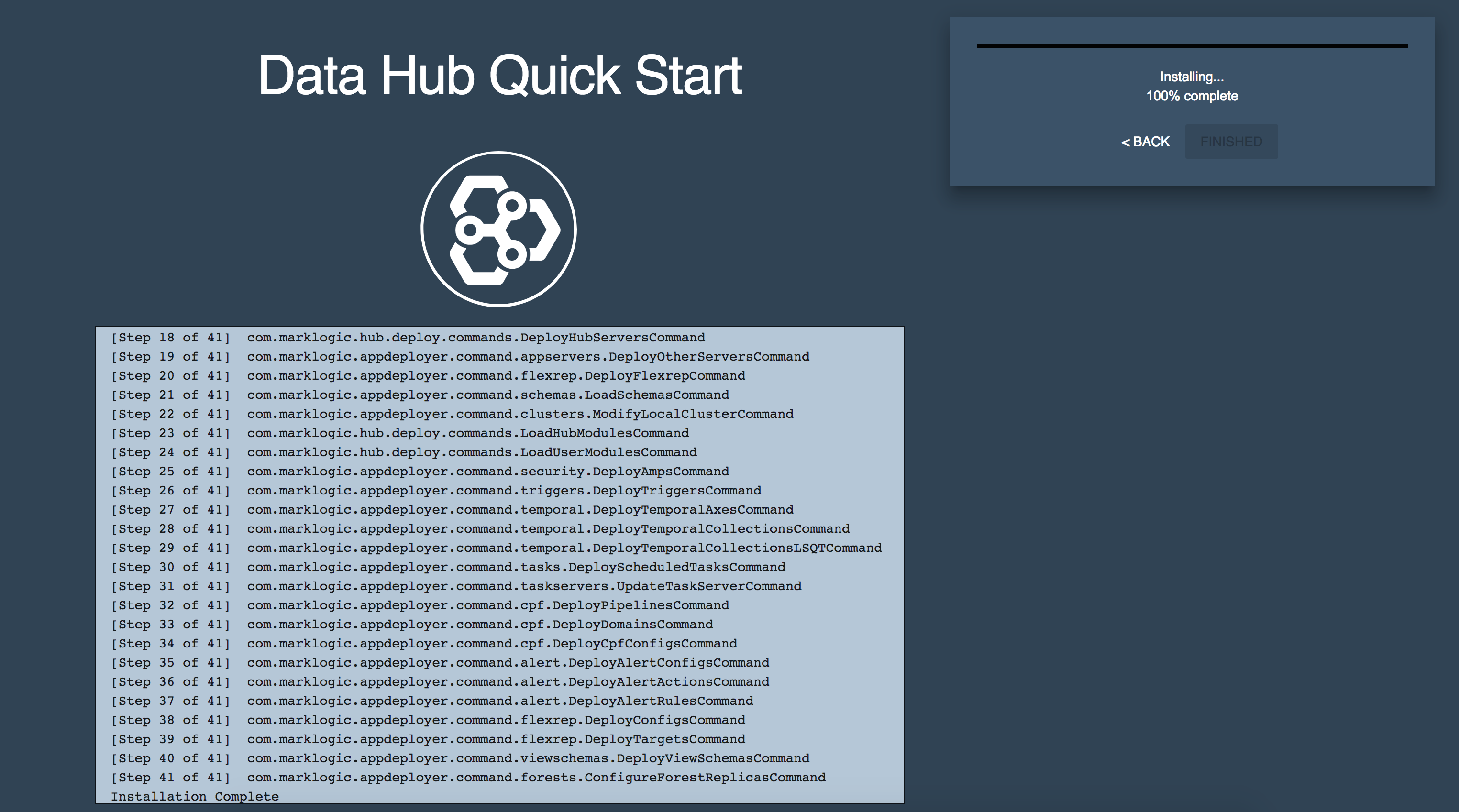 Once in a while, the hub installation on Quickstart failed