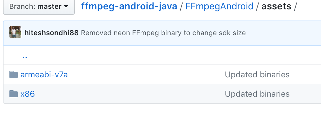 Android ffmpeg codec only for armeabi-v7a  How add for x86