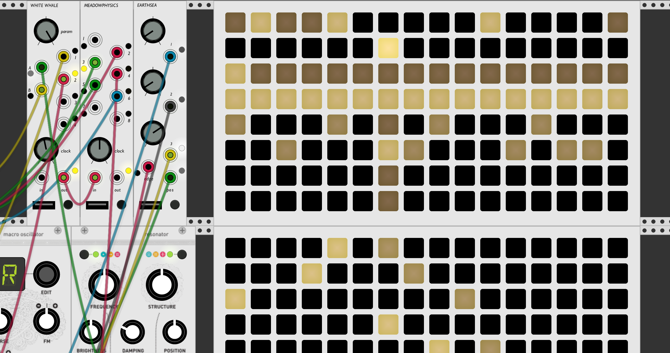 monome modules and virtual grid in VCVRack