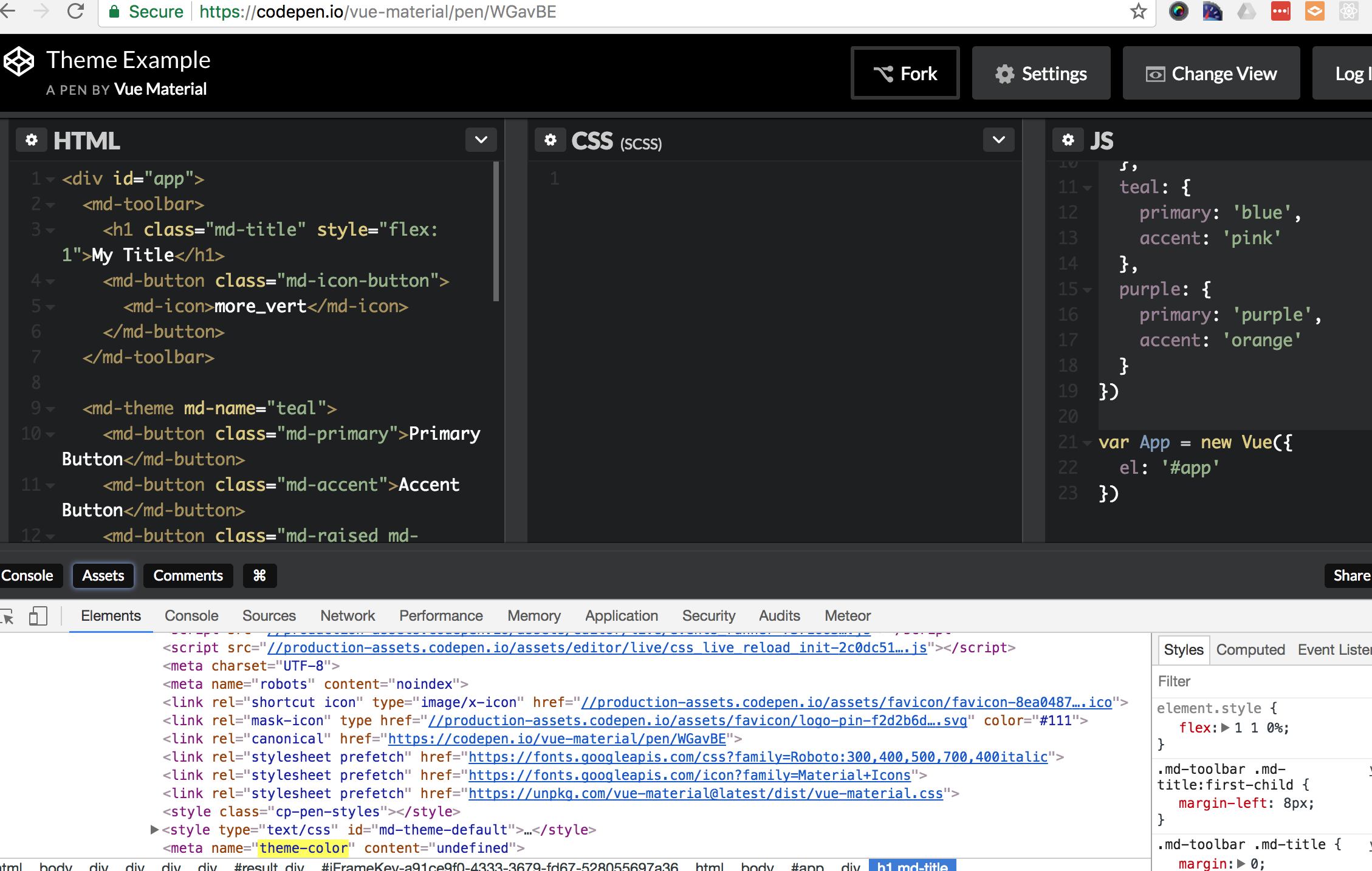 theme-color html tag overridden by 'undefined' · Issue #1139