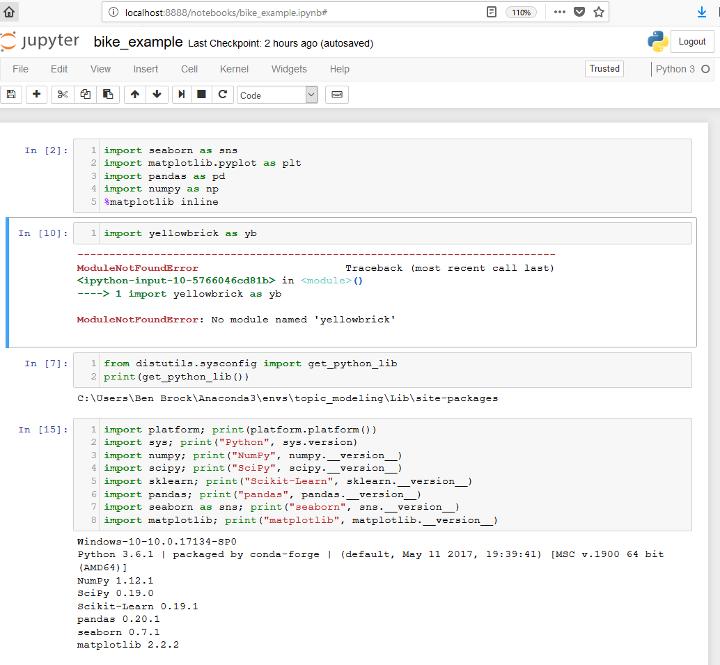 Module error - Anaconda · Issue #206 · DistrictDataLabs