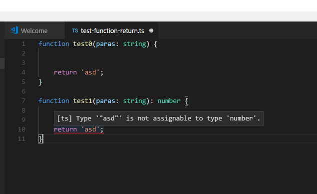 typescript function return type