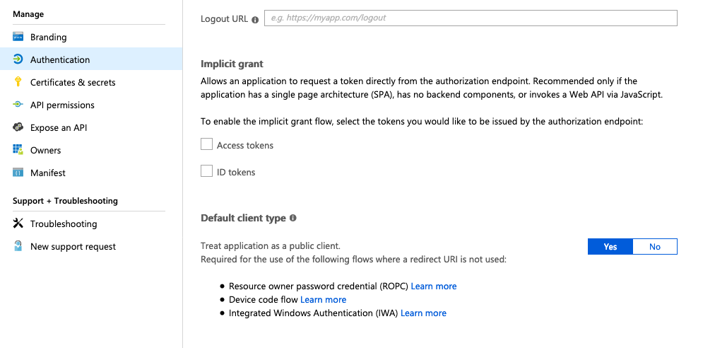 OpenID Connect issue with Azure AD: implicit vs code