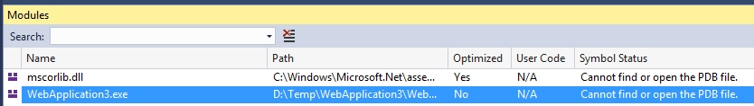 ASP NET Core 2 0 targeting net461  The breakpoint will not