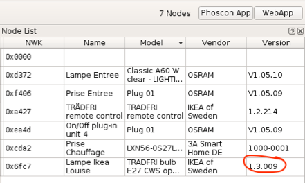 Ikea Tradfri Cws Bulb Firmware Updated But Old Firmware Is Still Listed As Current In Deconz Issue 15 Dresden Elektronik Deconz Ota Plugin Github