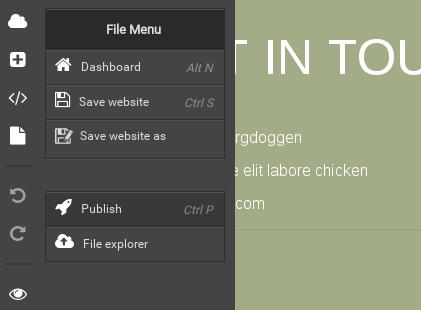 screenshot from file menu
