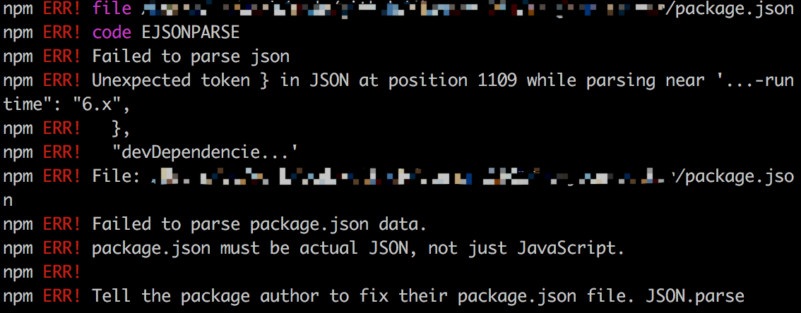 Failed to parse package json data · Issue #7 · react-component