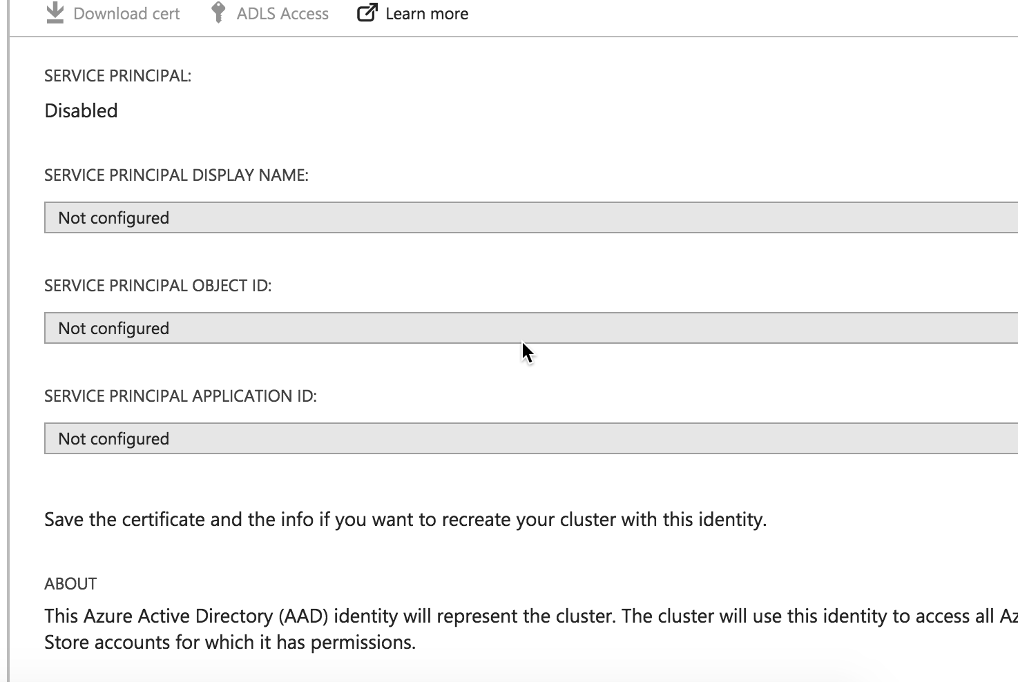 ADF v2 Error submitting action scripts and accessing ADLS