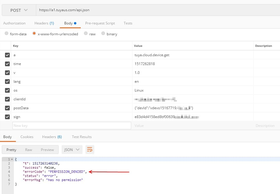Controlling Tuya devices with cloud API instead of