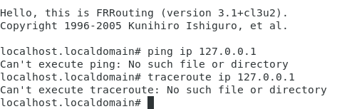 Latest FRR container: Can't execute ping: No such file or directory