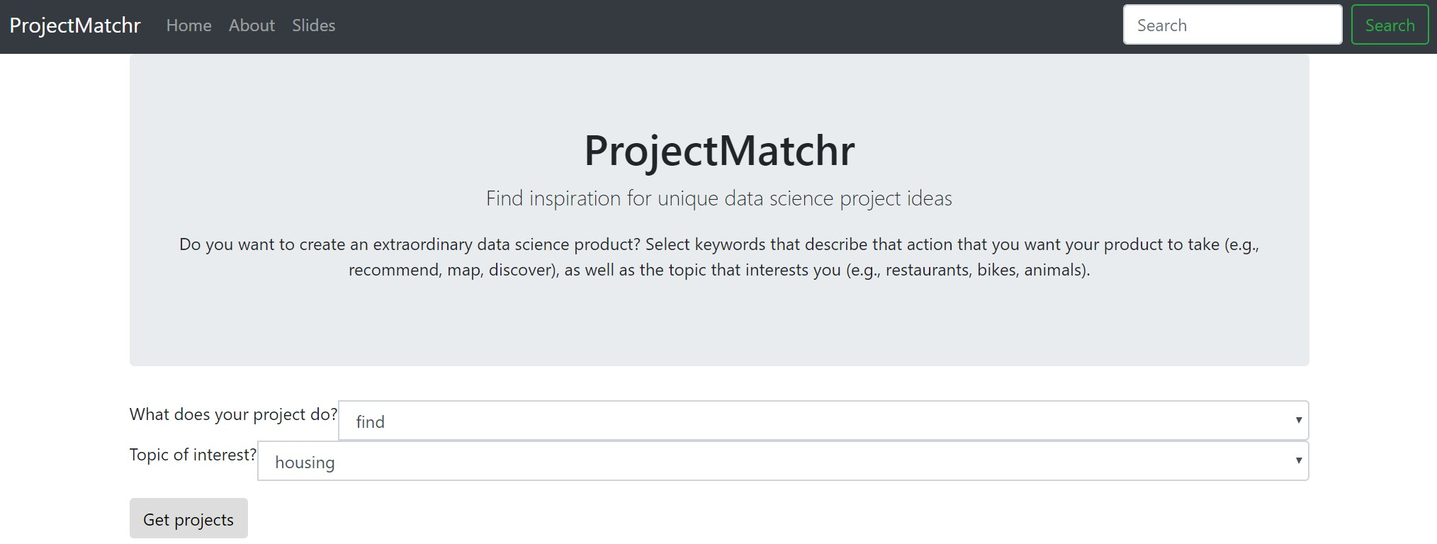 GitHub - CheLena/ProjectMatchr: Insight Data Science fellowship project