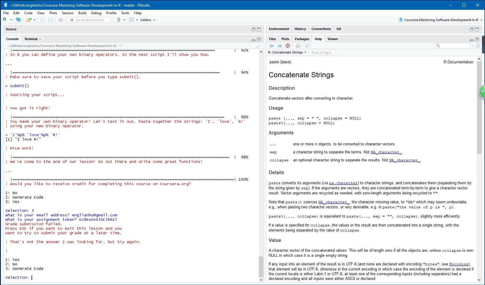 Coursera Answers Github
