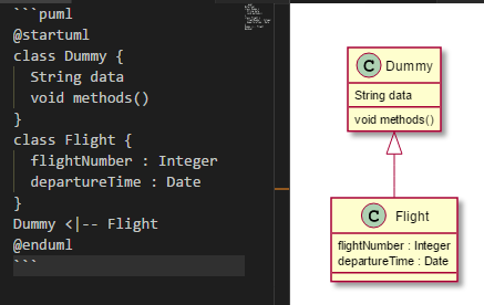 plantuml Class Diagram not showing in Markdown Preview ...