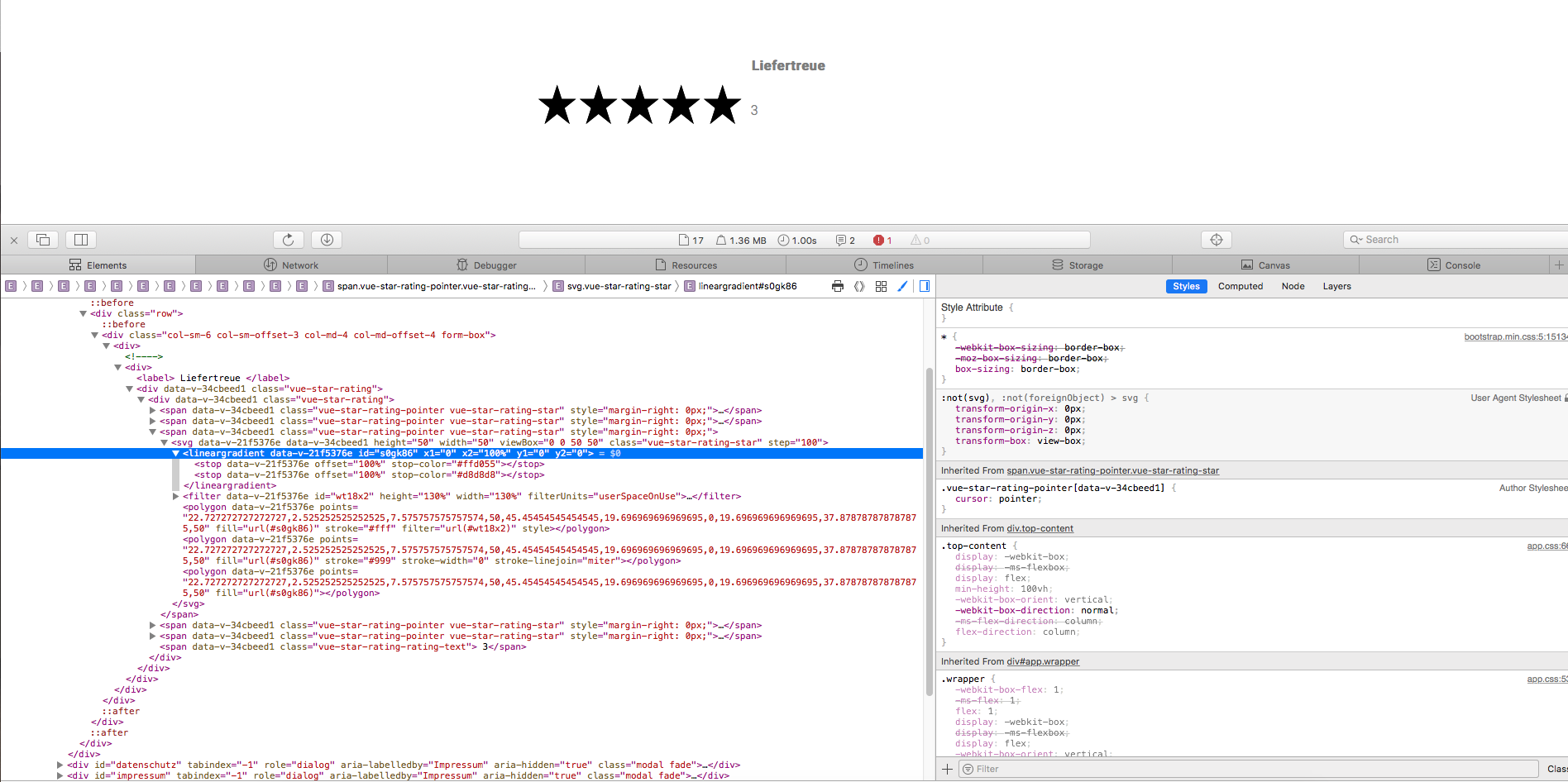 Star rating not working in Safari · Issue #45 · craigh411