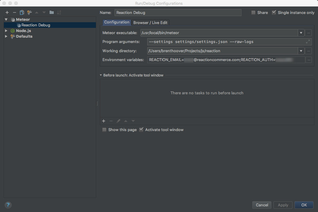 Webstorm setup