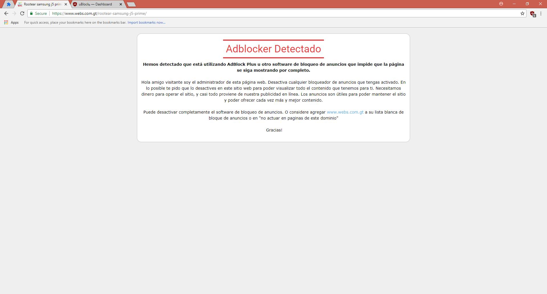 Anti-adblock] webs com gt · Issue #2658 · uBlockOrigin