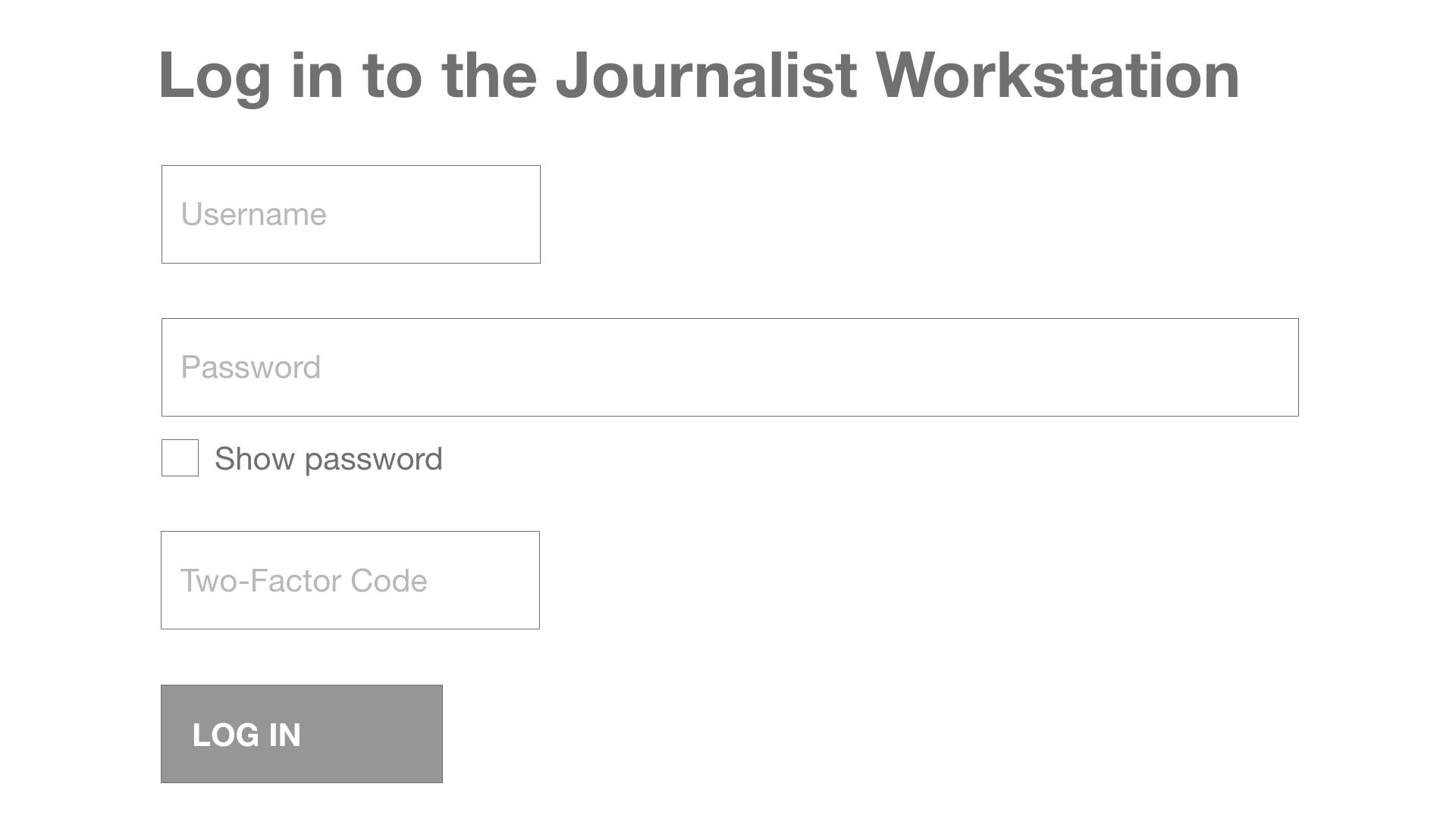 sd journalist workstation login