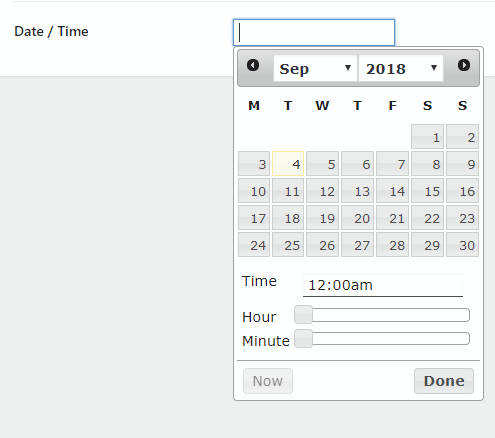 Date / Time field type HTML5 input not overriding jquery ui