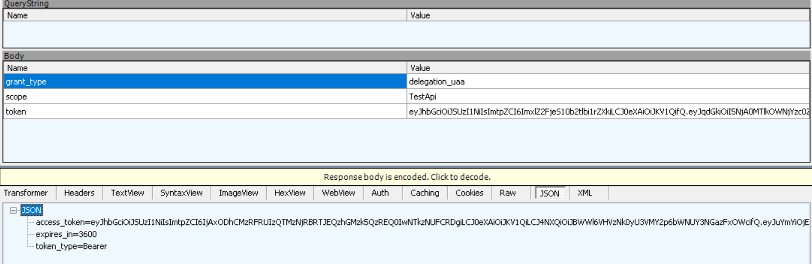 custom extension grant seems to work even if clientid clientsecret