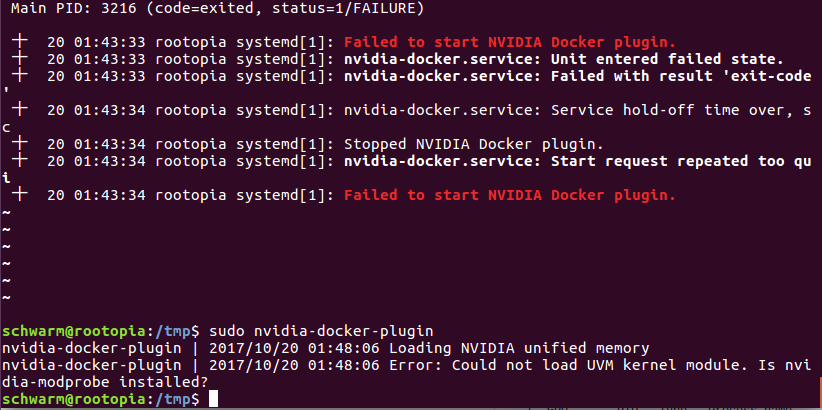nvidia-docker-plugin doesn't start automatically · Issue