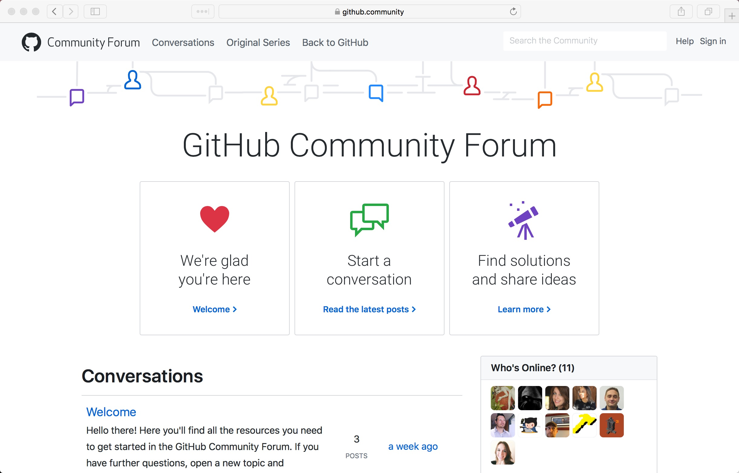 Screenshot of the GitHun Community Forum