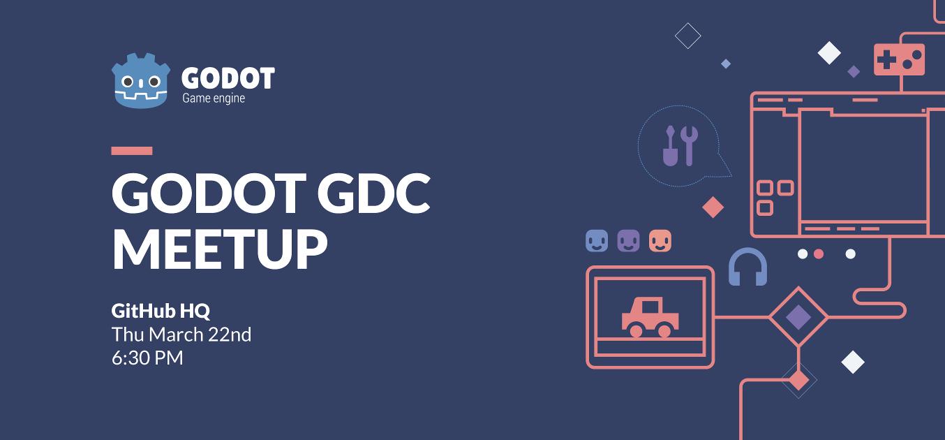 Godot GDC Meetup Poster