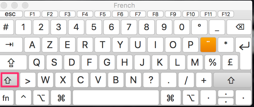 Keyboard layout for