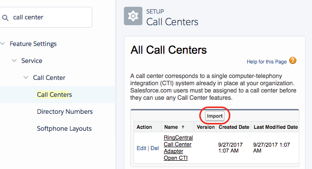 Salesforce RingCentral incoming call screen pop · Issue #7
