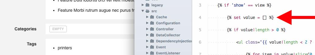 BUG] field_association html twig template fails on empty