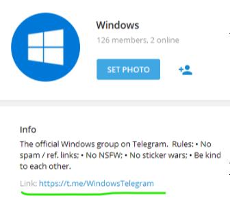 Display chat share link · Issue #432 · UnigramDev/Unigram · GitHub