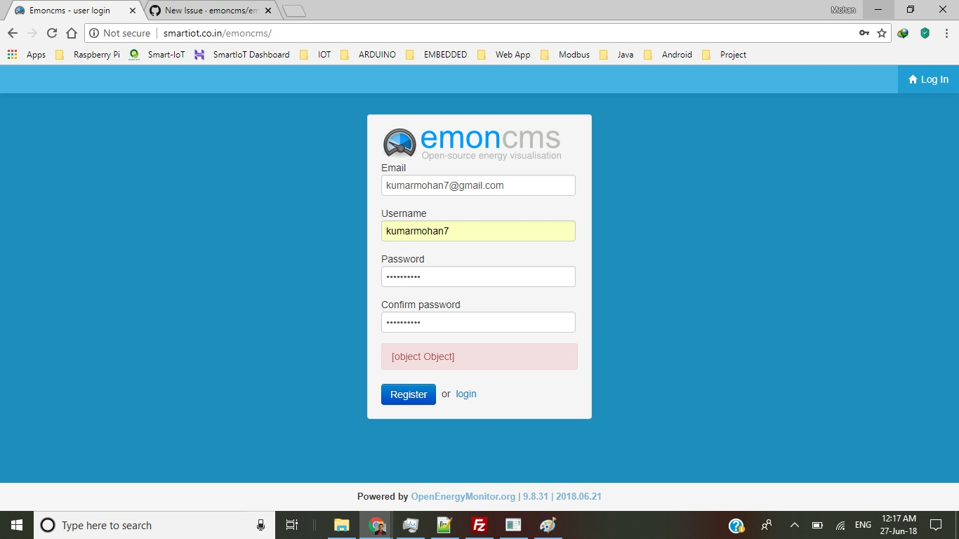 New First User Creation Error · Issue #898 · emoncms/emoncms · GitHub