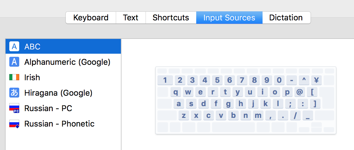 Mac: some output characters shifted depending on input sources