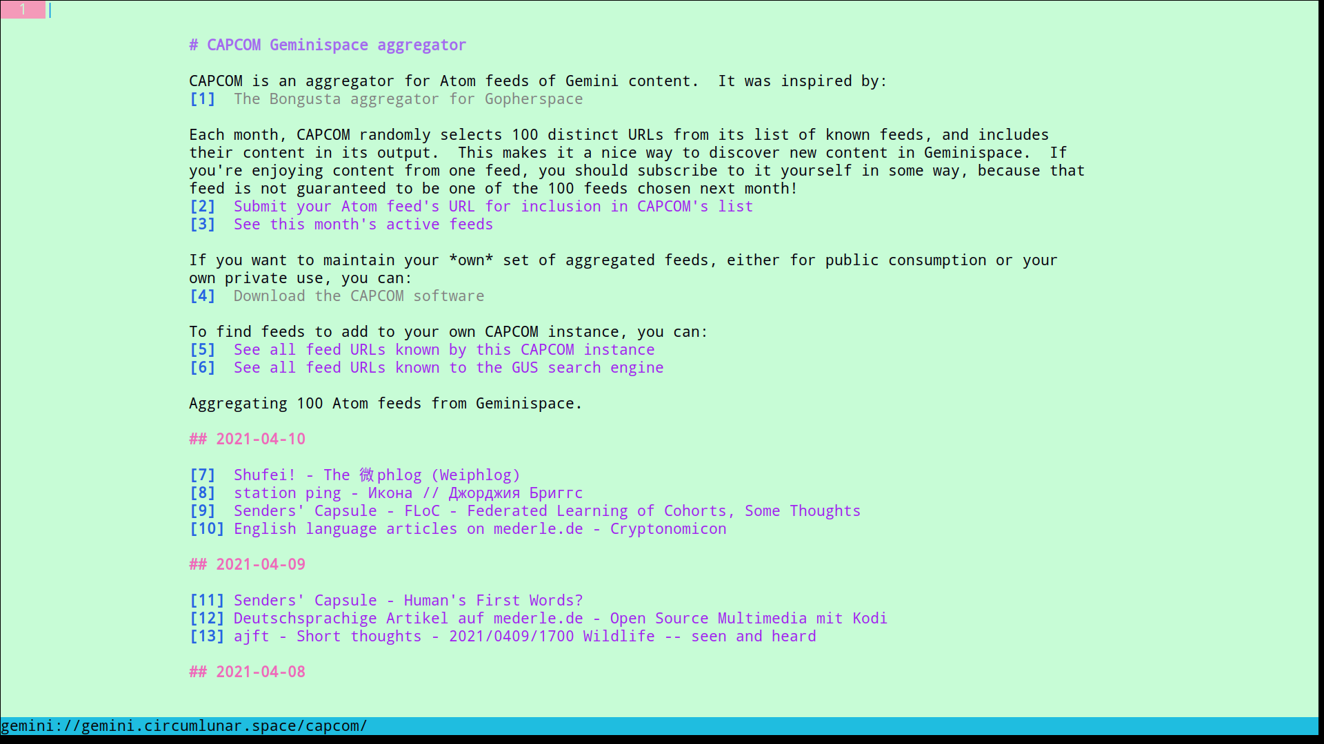 Slimey theme example screenshot