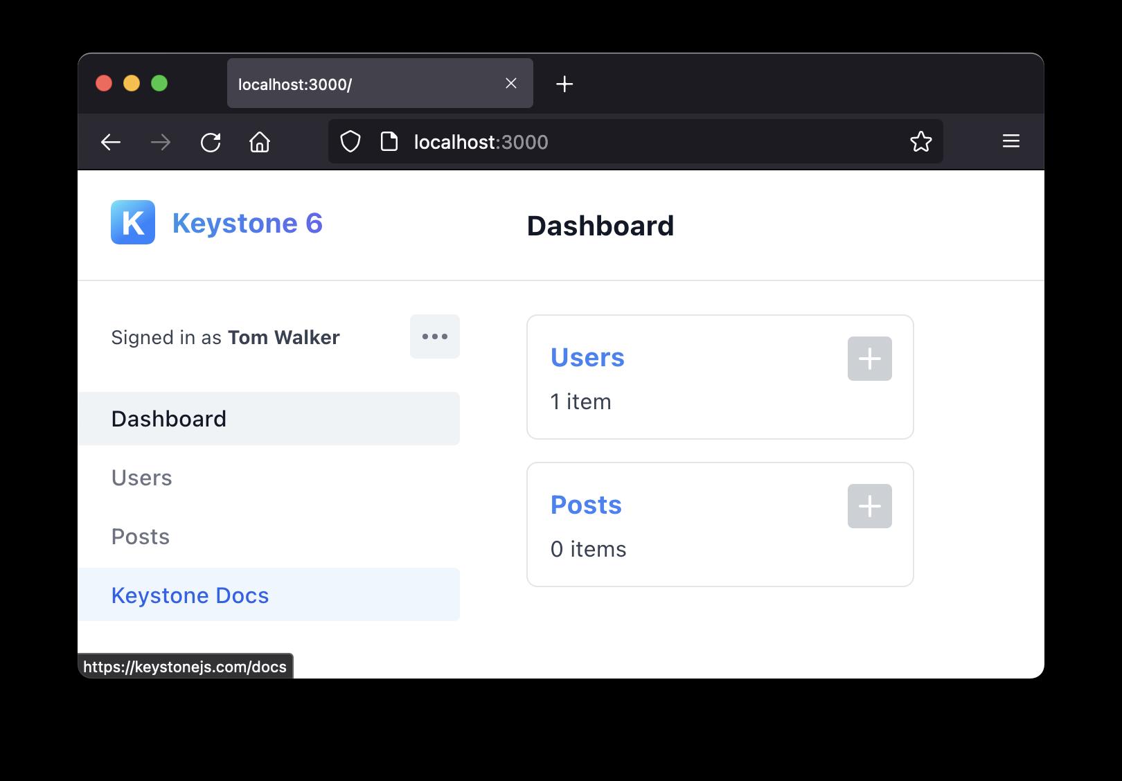 Custom navigation screenshot