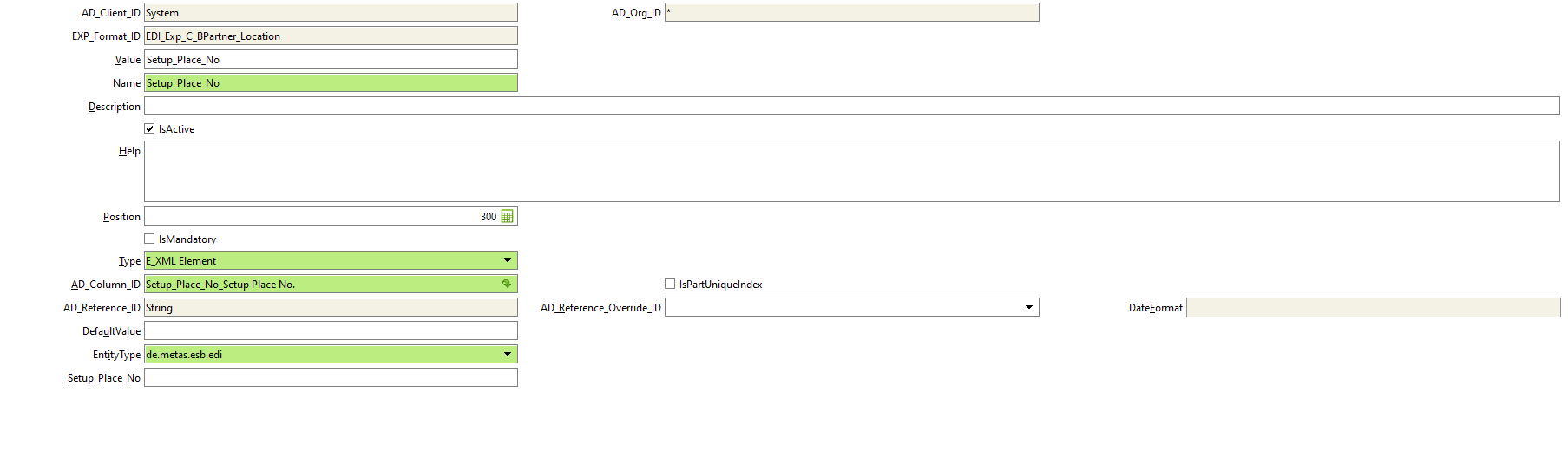 Add export format line