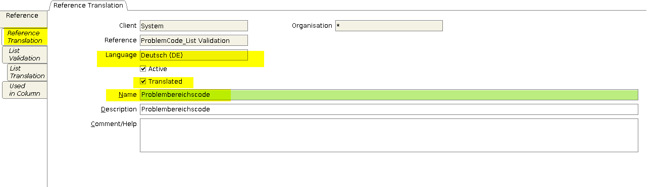 Reference translation tab