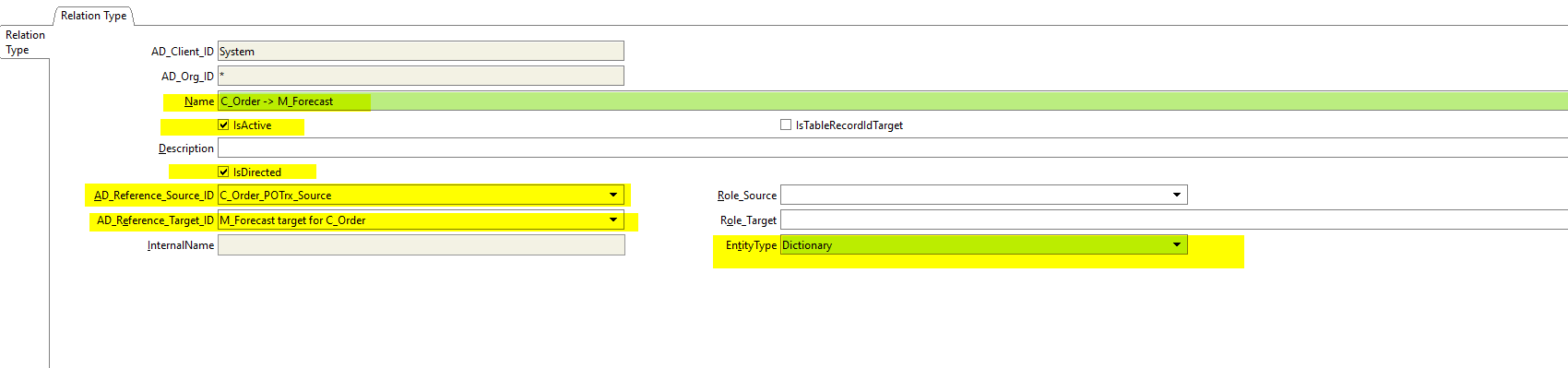 Relation type, 'IsTableRecordIdTarget' NOT checked