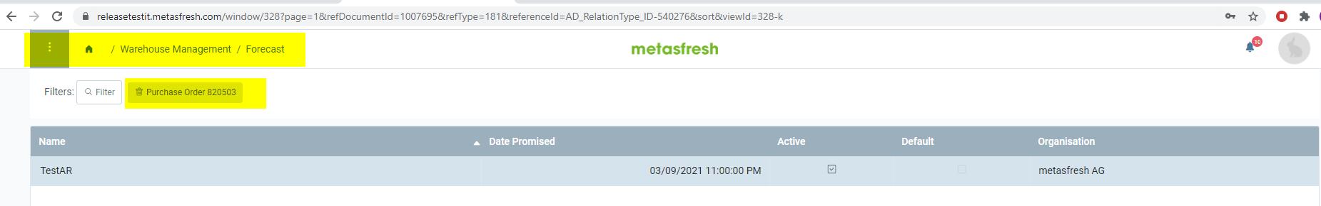 Target window on WebUI