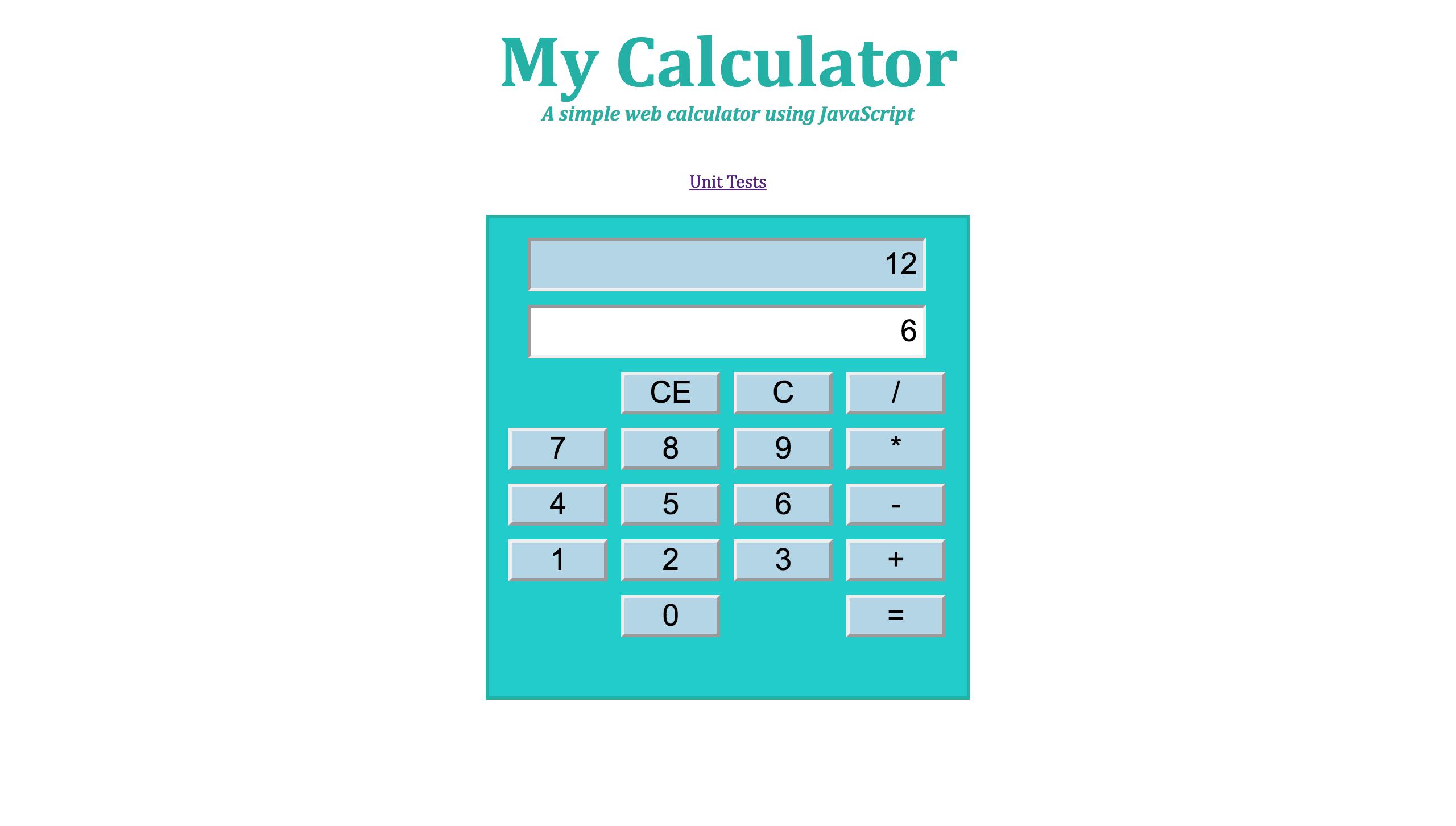 web calculator