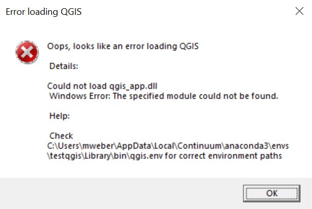 Could not load qgis_app dll · Issue #43 · conda-forge/qgis-feedstock