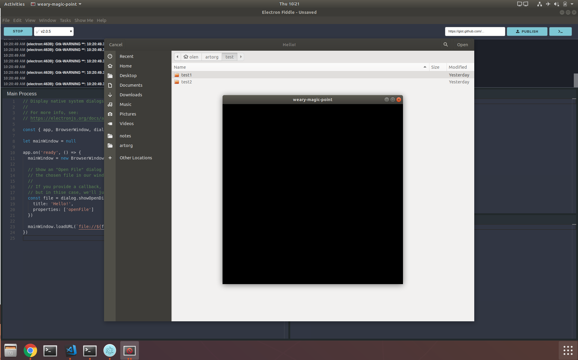 Linux: dialogs are looking broken in the snap package