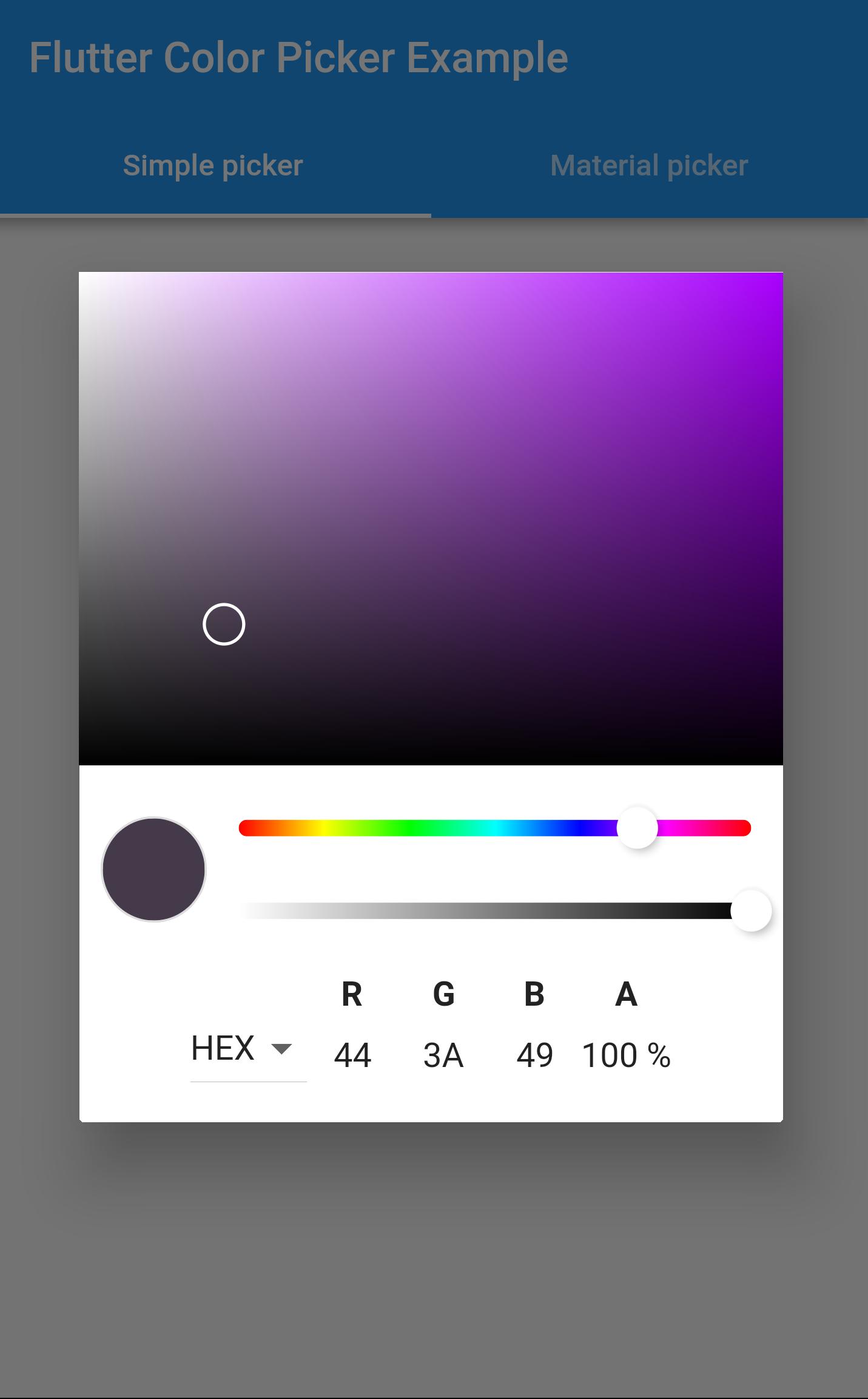GitHub - mchome/flutter_colorpicker: A HSV(HSB)/HSL color picker
