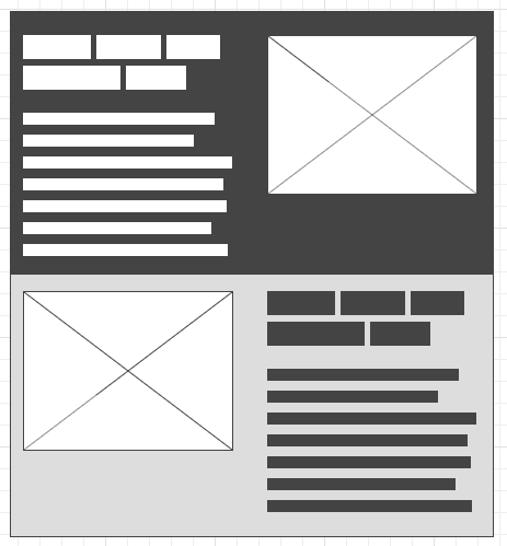 Content block wireframe