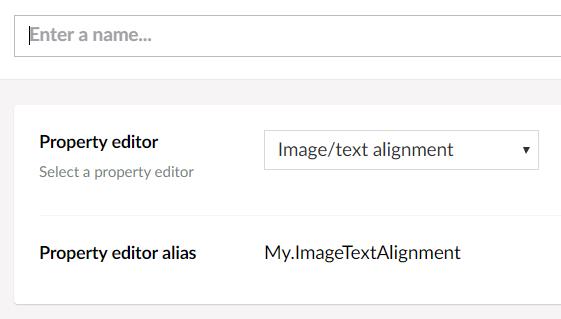 Layout editor data type
