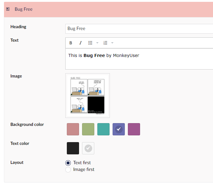Page builder, first take